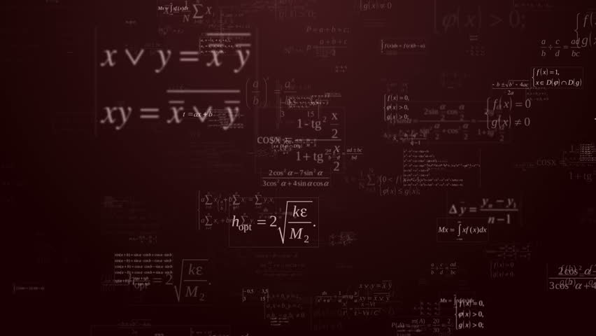 Loopable floating mathematical formules on the dark red background   Shutterstock HD Video #7485961