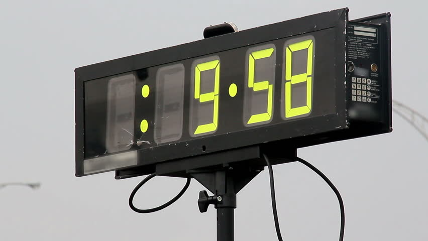Race Clock Stock Footage Video - Shutterstock