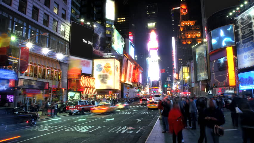 Times Square Time Lapse  | Shutterstock Video #755332