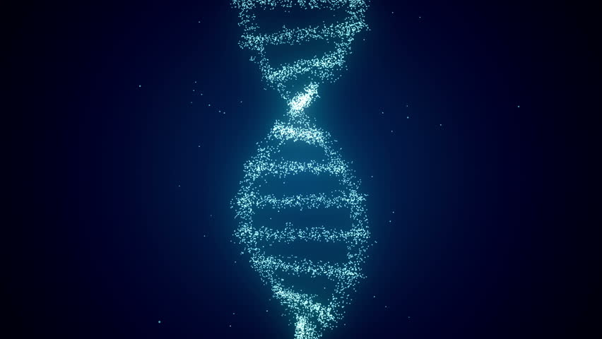 From Dna to Human figure Dark Blue