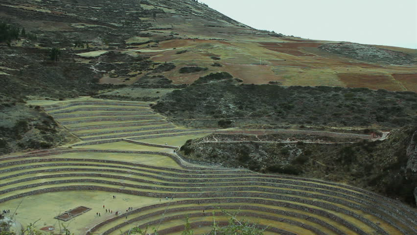 The Incan Agricultural Terraces At Moray, Peru - Moray Is The Name ...