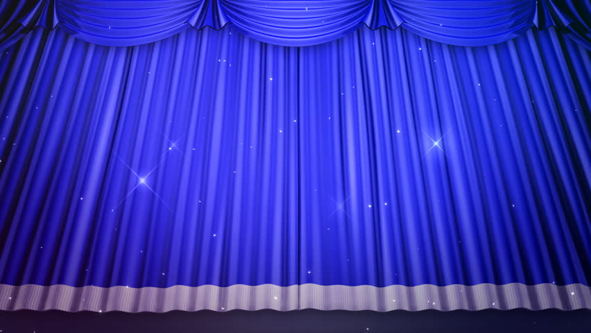 Curtains Ideas blue stage curtains : Theater Curtain. Stage Curtain. Stock Footage Video 784948 ...