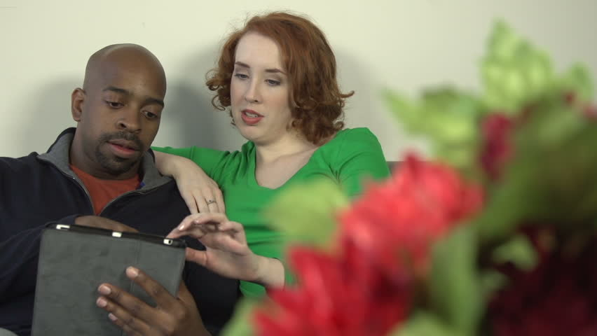 A Close-Up Of An Interracial Couple - A Black Man And A -3749