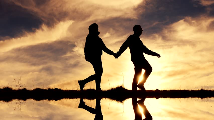 Loving Couple At Sunset Stock Footage Video 2844799 ...