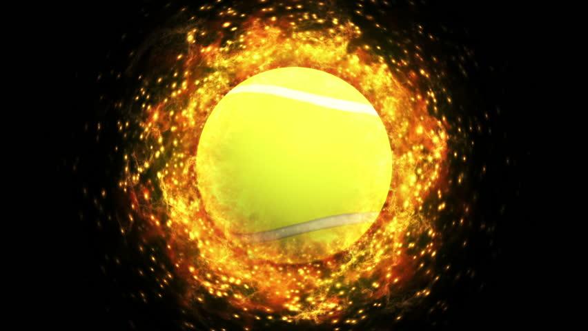 Fiery Tennis Ball