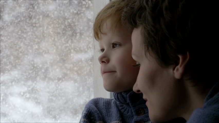 The Boy Looks At Snow Cute Redhead Boy Looks At The Camera With Wondering Eyes -1875