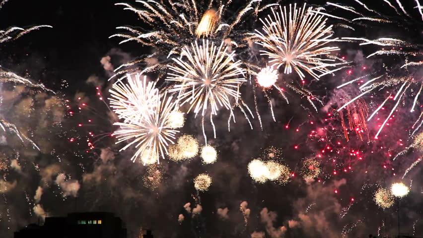 Copacabana Fireworks 2015 New Year Eve | Shutterstock HD Video #8378683