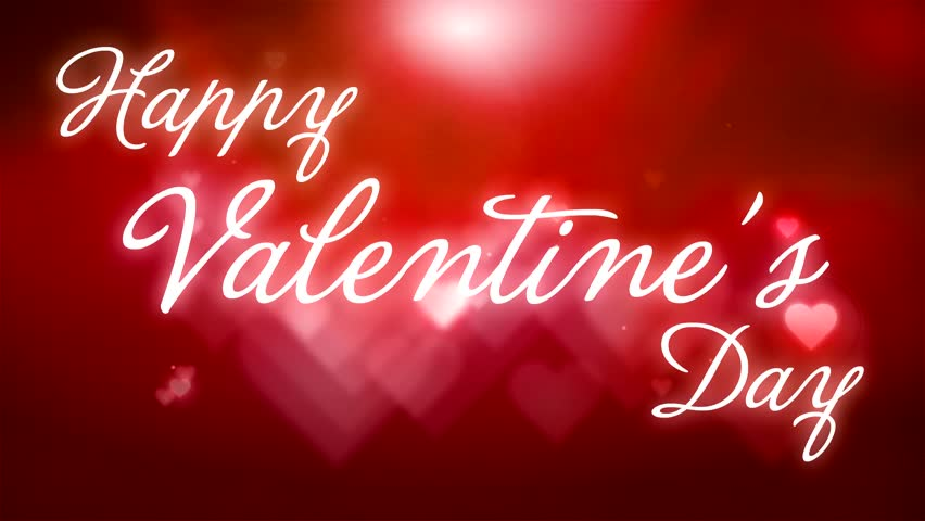 Happy Valentines Day Animation Card With Pulsing Heart On – Valentine Day Video Card