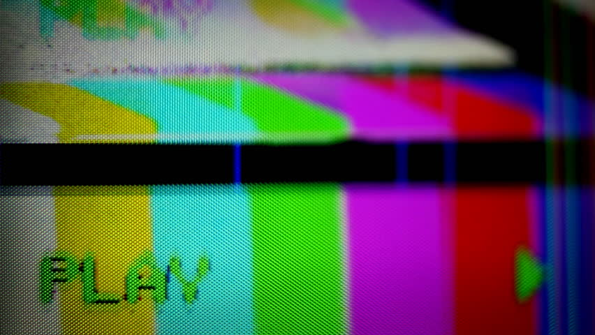 Retro Tv With Static On Screen And Digital Distortion ...
