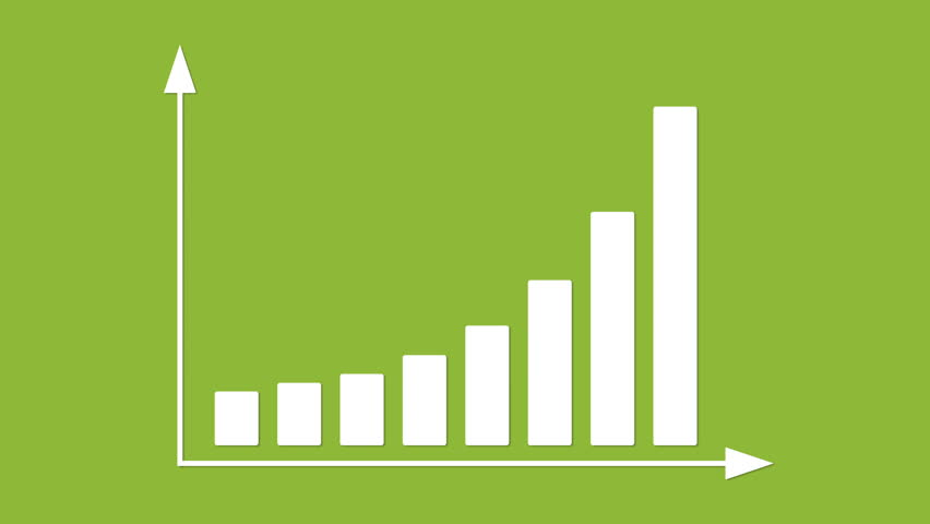 Bar graph with arrows axis. Grow, chart, statistic, business concept. Animation for yours presentation. Available in 4K FullHD HD flat design 2D footage video clip. Infographics in flat design. | Shutterstock HD Video #8535562