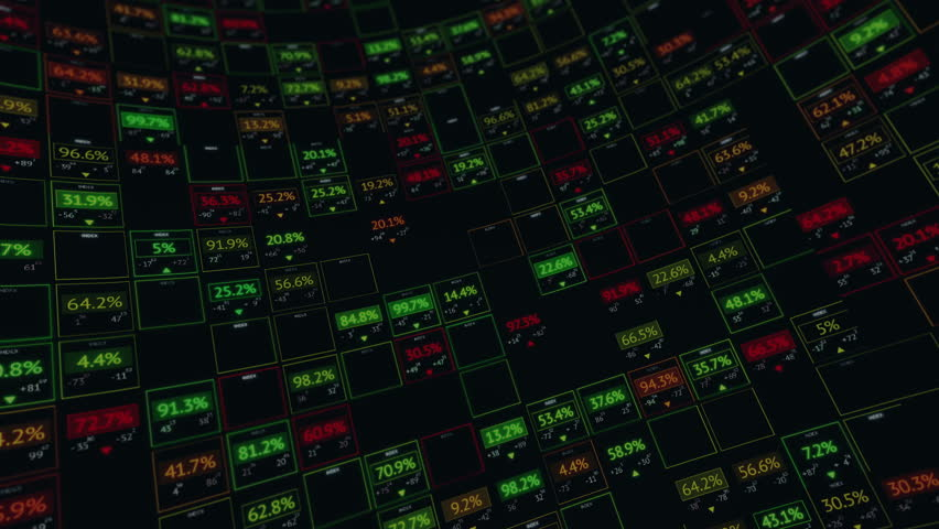 Stock display panel with random digits and indexes | Shutterstock HD Video #8547088