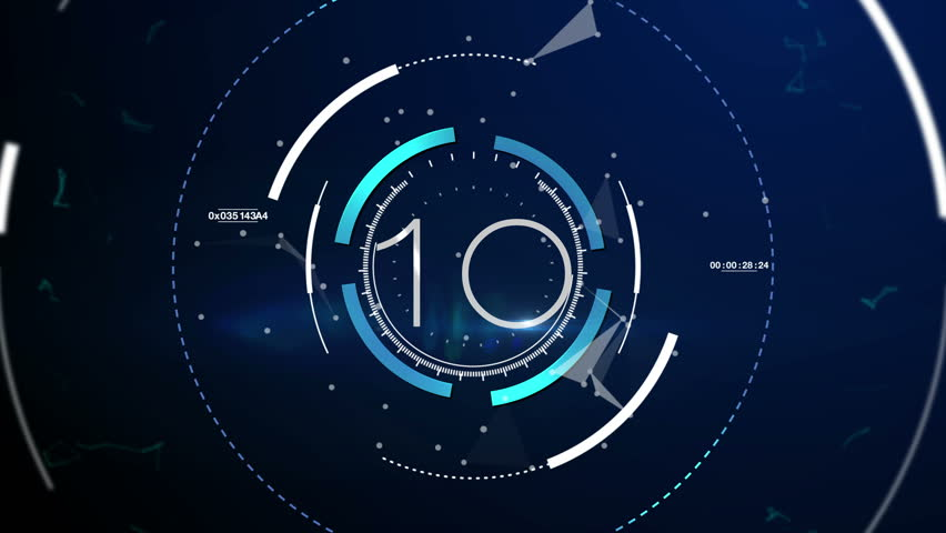 Countdown Motiongraphic 10 to 0