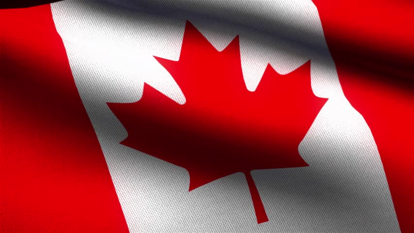 HD 1080p Clip With A Slow Motion Waving Flag Of Canada ...