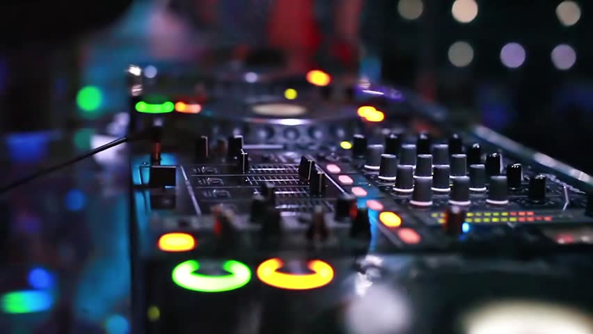 Dj Software On Laptop Stock Footage Video 8669245