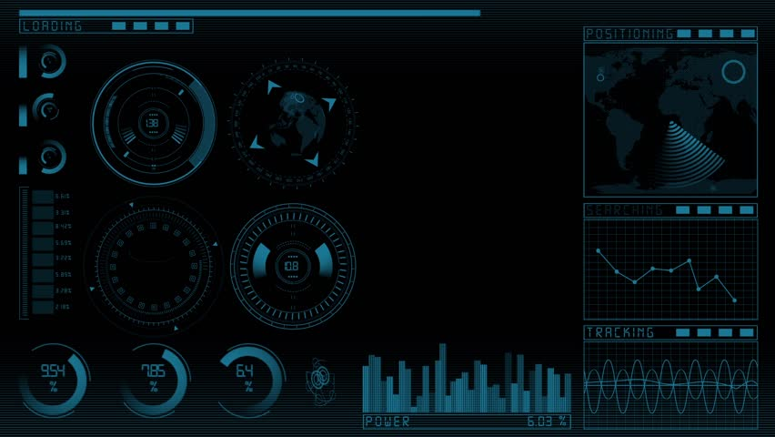 Animation of the technology screen interface GUI with copy space | Shutterstock HD Video #8983018