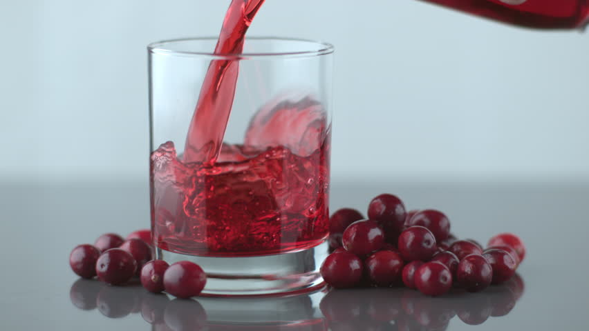 Cranberry Juice Slow Juicer : Ice Splashing Into Cranberry Juice In Slow Motion; Shot On Phantom Flex 4K At 1000 Fps Stock ...