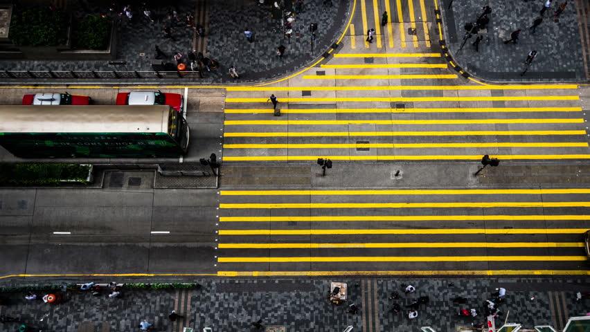 Hong Kong,China-Nov 12,2014: The bird view of the...