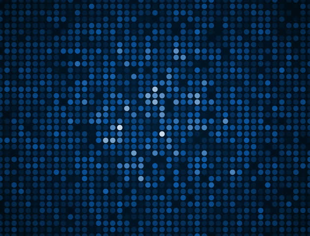 Blue Sequin Dots Wall Background Loop