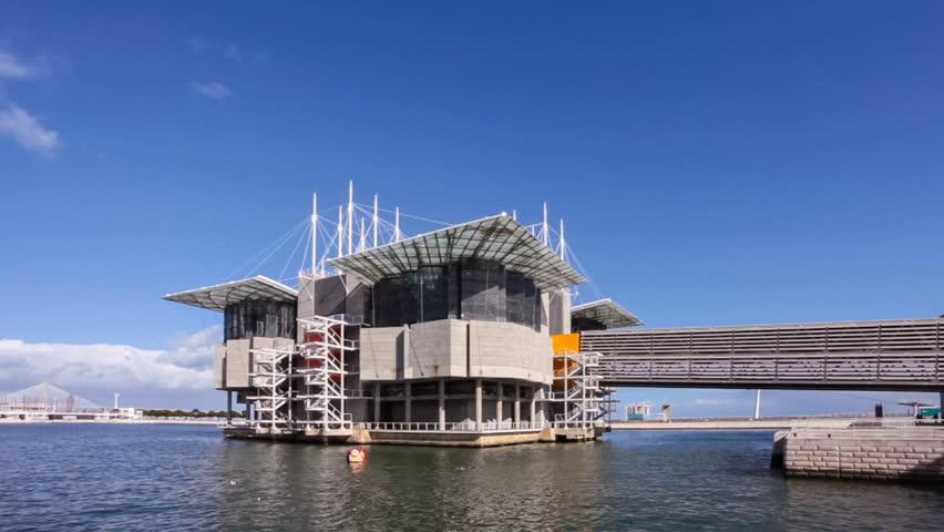 lisbon portugal february 01 2015 lisbon oceanarium the second largest oceanarium