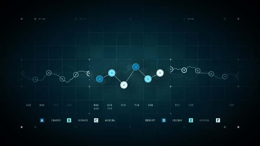 A line graph fluctuates incrementally over time. Available in multiple color options. All clips loop seamlessly. | Shutterstock HD Video #9203306
