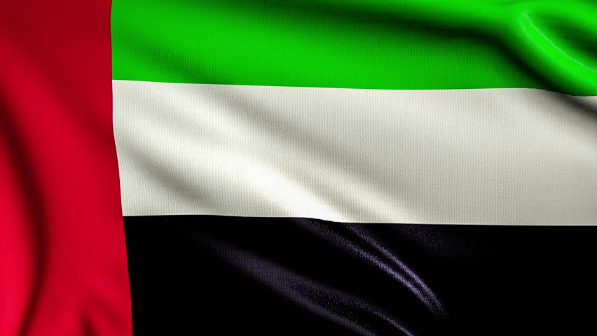Flying flag of united arab emirates looped stock footage for 3d wallpaper for home uae