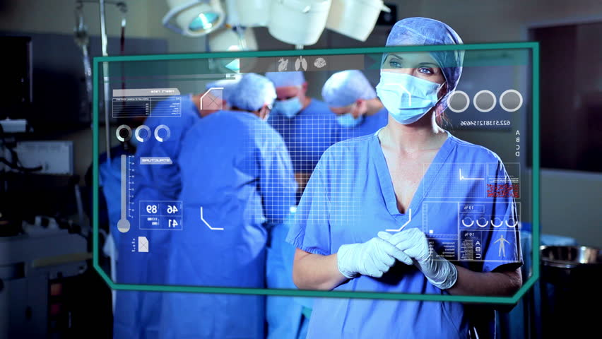 medical health motion graphics touchscreen technology heart cardiology operation