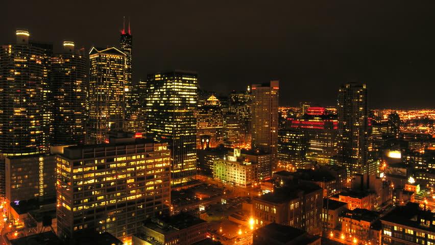 Urban Downtown Night Time-Lapse ...