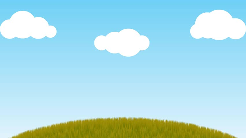 cartoon clouds on a green screen stock footage video 7707718