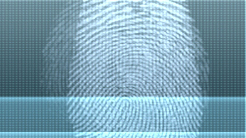 4k Unique fingerprint identity password scan background,tech medical X-ray scanning identification software backdrop,genetic search retrieval Gene sequencing database scanning data. 0556_4k