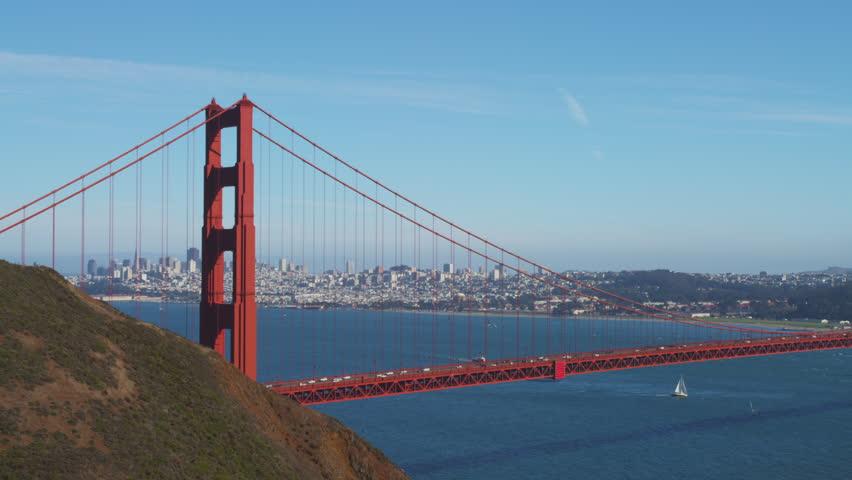 Golden Gate Bridge 4k: Golden Gate Bridge At Sunset