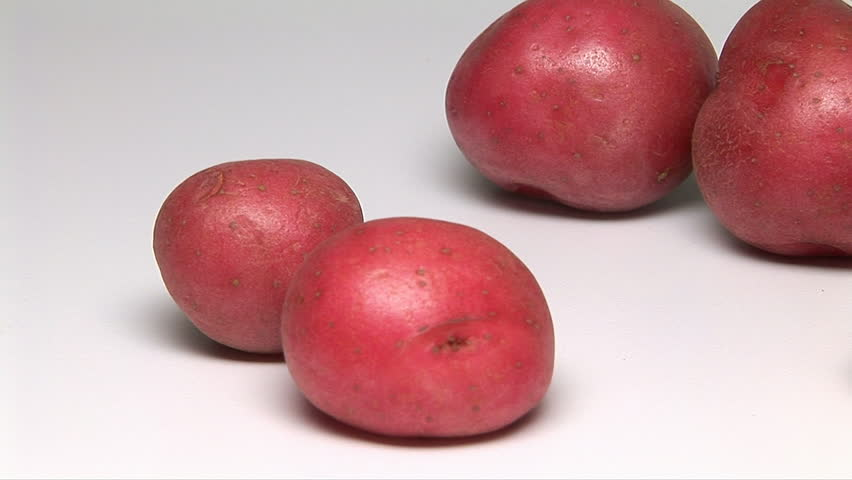 Red Potatoes Hd Stock Video Clip
