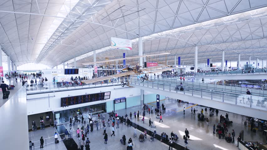 Hongkong 19 june 2016 hong kong international airport asian people travelling with the - Air china hong kong office ...
