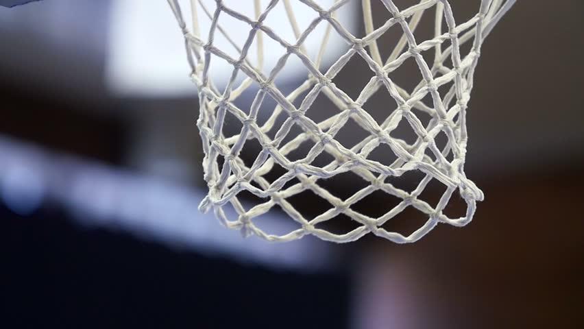 Close up of a basketball dunk, slowmotion   Shutterstock HD Video #9793274