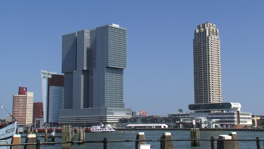 Modern Architecture New Orleans rotterdam, the netherlands - july 2014: waterfront nieuwe maas